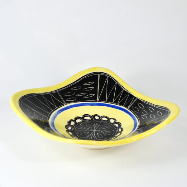 early jacques pouchain poet laval french ceramist mid century freeform bowl 1950s 2