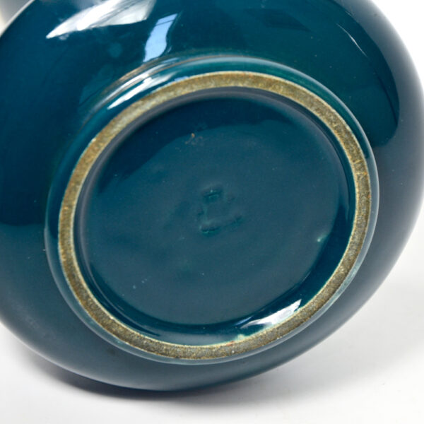 jaget-pinon-art-deco-vase-in-bleu-de-tours-1920s-blue-and-gold-empire-style-french-ceramic-vase 4