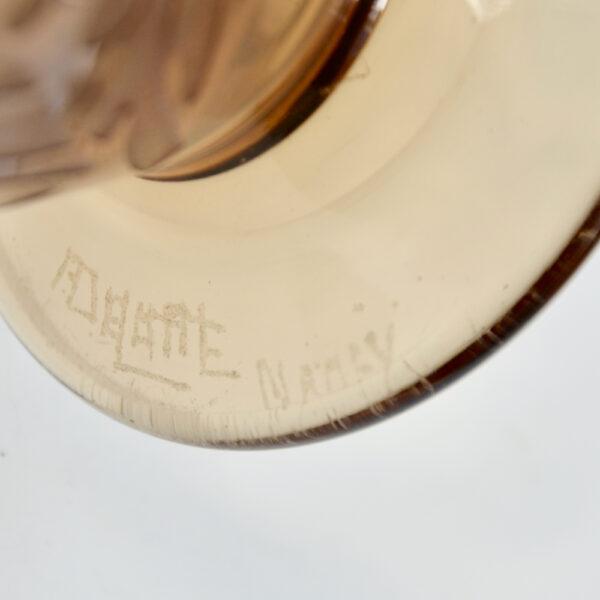 Andre Delatte art deco vase French acid etched glass signed 1925 3