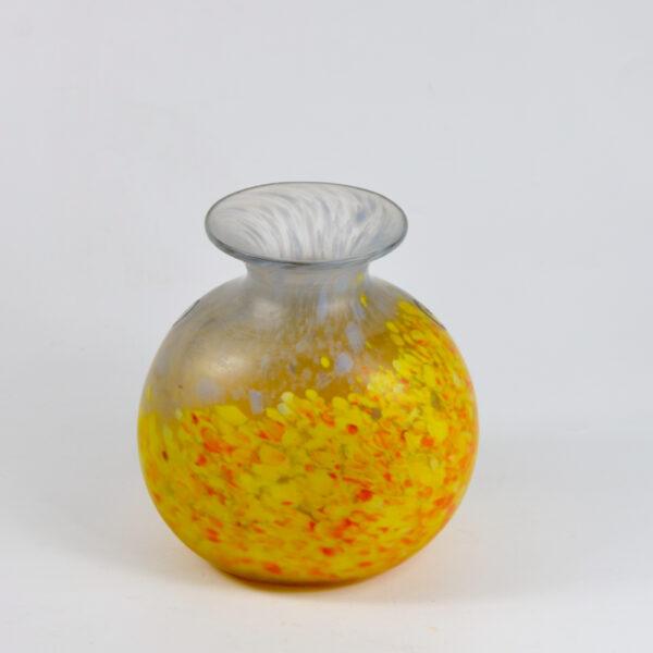 Legras Printania Art nouveau vase 1920 Auray enamelled french glass