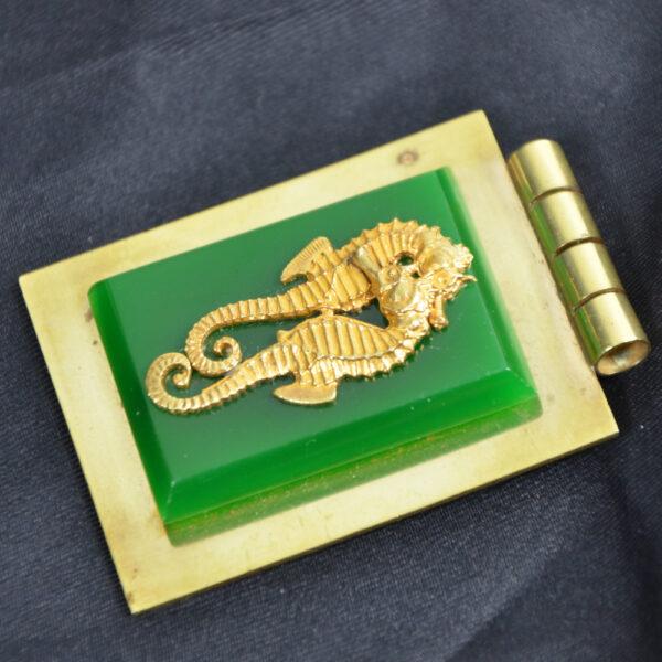 jean painleve green bakelite pendant seahorse vintage 1930s French jewellery 2