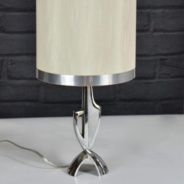 1960s freeform lamp - steel modernist lamp- mid century modern table lamp