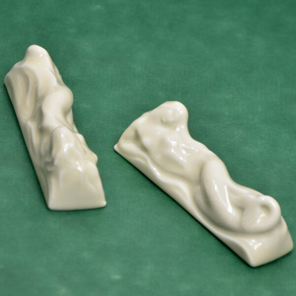 Camille Tharaud Art deco knife rests mermaids sirenes limoges porcelain 1925 a