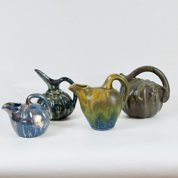 French art nouveau art deco stoneware gourd vases gilbert metenier denbac rambervillers cyteres