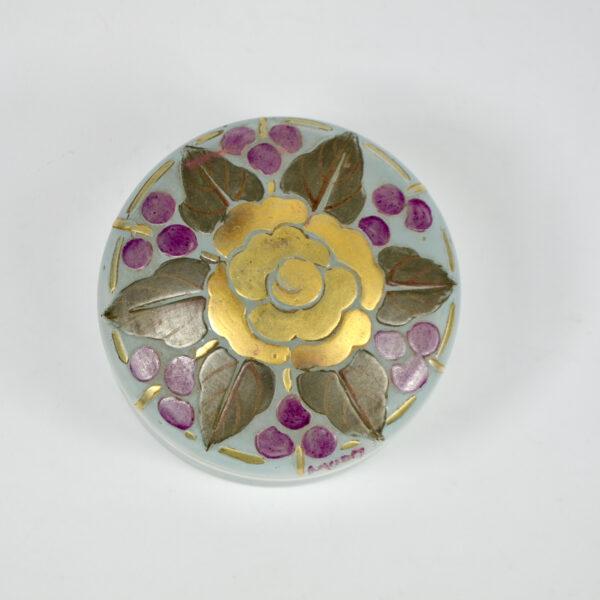 Moda Daum art deco enamelled glass bonbonniere 1920 1