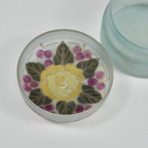 Moda Daum art deco enamelled glass bonbonniere 1920 c