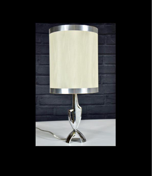 mid century chrome lamp, space age 1960s