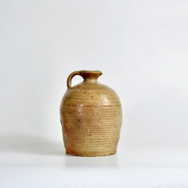 Antique French salt glazed cruche, oil jar, 1800s 1900