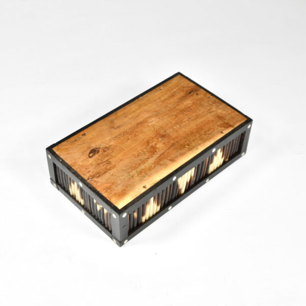 Ceylonese porcupine quill box ebony anglo indian box 4