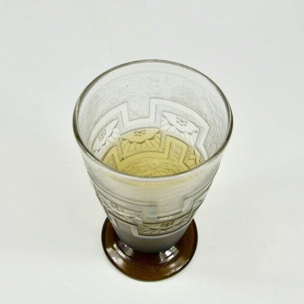 Charles Schneider acid etched vase, bi-coloured 1930s le Verre Francais 5