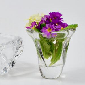 Daum France clear crystal vase 1960s (1)