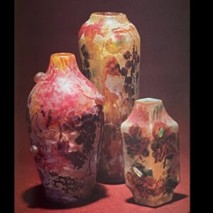 Daum cameo glass vases c1903 Musée de Nancy collection