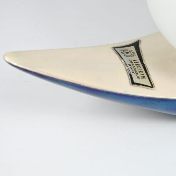 Verceram modernist lamp 1960s mid century modern ceramic table lamp space age 2