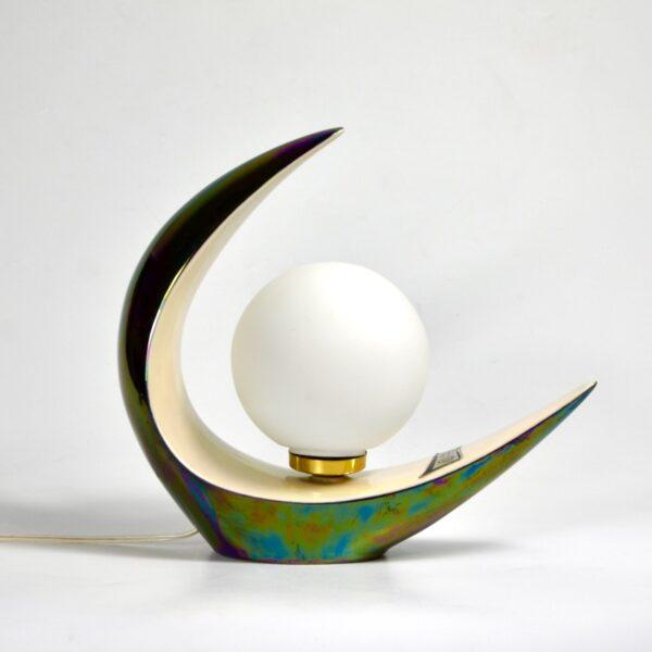 Verceram modernist lamp 1960s mid century modern ceramic table lamp space age