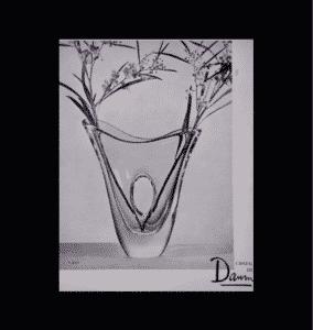 daum crystal france 1950s freeform pierre Jahan