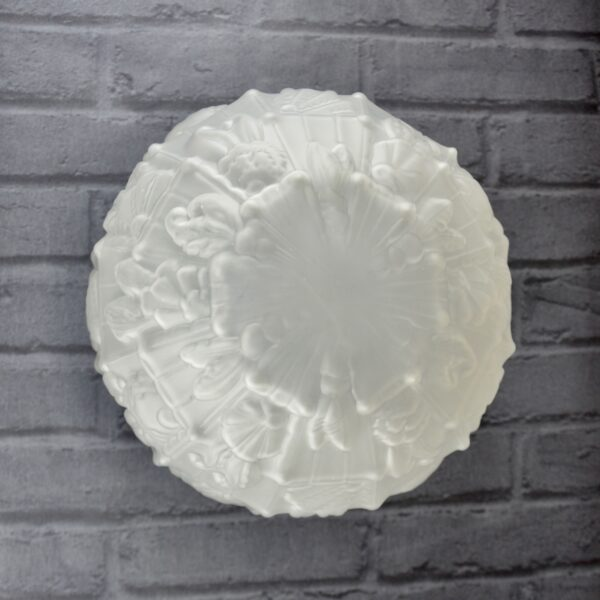 large art deco globe light in chrome glass 9 frosted glass shade 1930 Les Hanots frosted glass 1