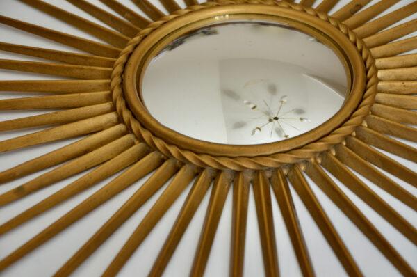 Chaty Vallauris mid century convex mirror, 1950s French vintage mirror 3