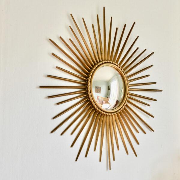 Chaty Vallauris mid century convex mirror, 1950s French vintage mirror 8