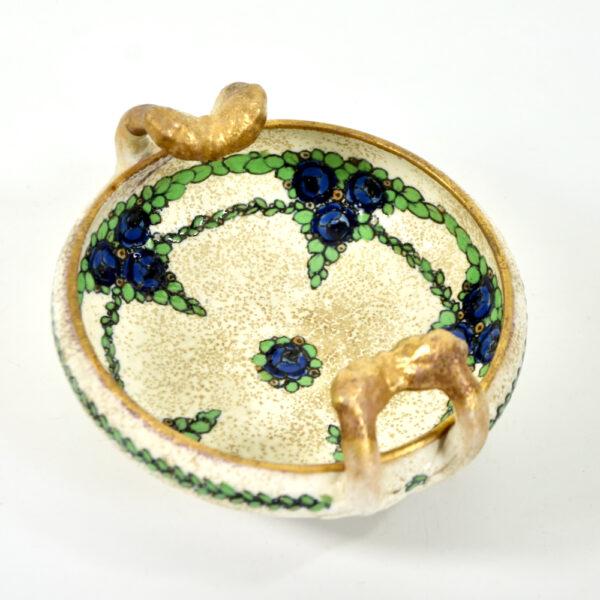 Ernst Wähliss Art Nouveau enamelled bowl Austria 1