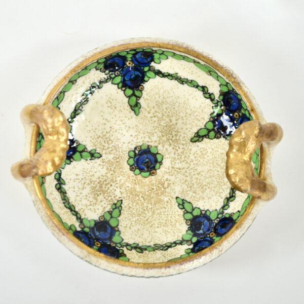 Ernst Wähliss Art Nouveau enamelled bowl Austria 3