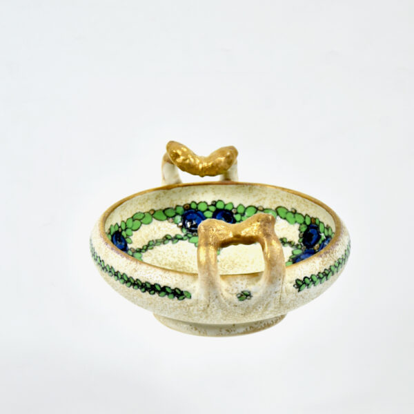Ernst Wähliss Art Nouveau enamelled bowl Austria 5