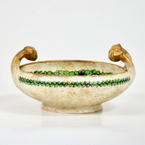 Ernst Wähliss Art Nouveau enamelled bowl Austria