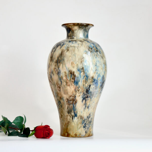 Fernand Carpent Art Deco vase glazed stoneware Bouffioulx, Belgium Guerin Edgard Aubry 1930s Very large vase 2