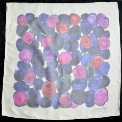 Jacques Fath silk scarf in silk voile boxed 4