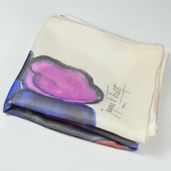 Jacques Fath silk scarf in silk voile boxed
