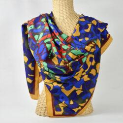 Jean-Louis Scherrer silk shawl vintage french designer silk scarf