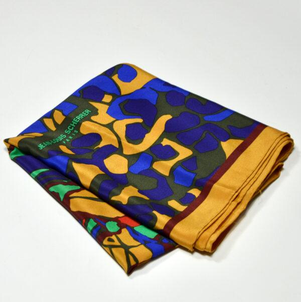 Jean-Louis Scherrer silk shawl vintage french designer silk scarf 4