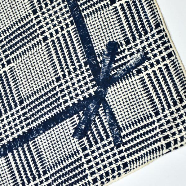 Madeleine de Rauch silk scarf black white houndstooth vintage french vdesigner scarf 2