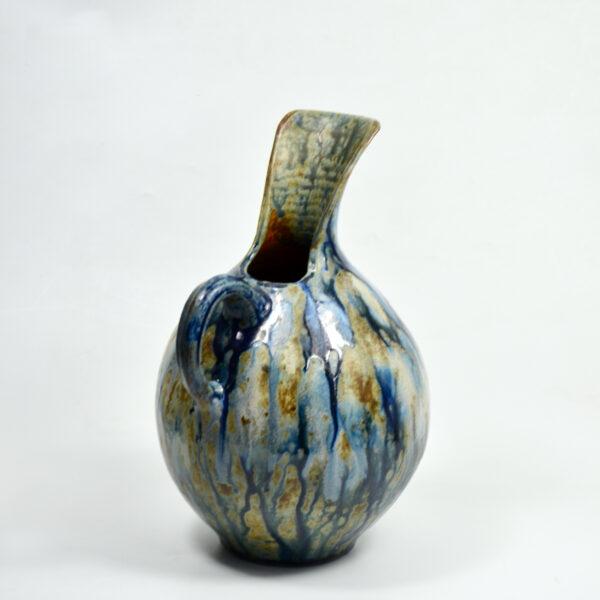 Roger Guerin Bouffioulx Art Deco glazed stoneware pitcher vase 1930s Belgium art pottery