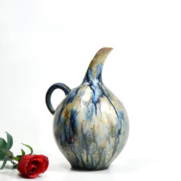 Roger Guerin Bouffioulx Art Deco glazed stoneware pitcher vase 1930s Belgium art pottery 3