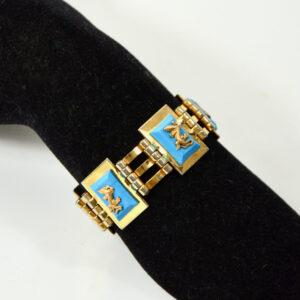 jean painleve art deco bracelet 1930 blue salamander 1