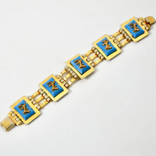 jean painleve art deco bracelet 1930 blue salamander 2