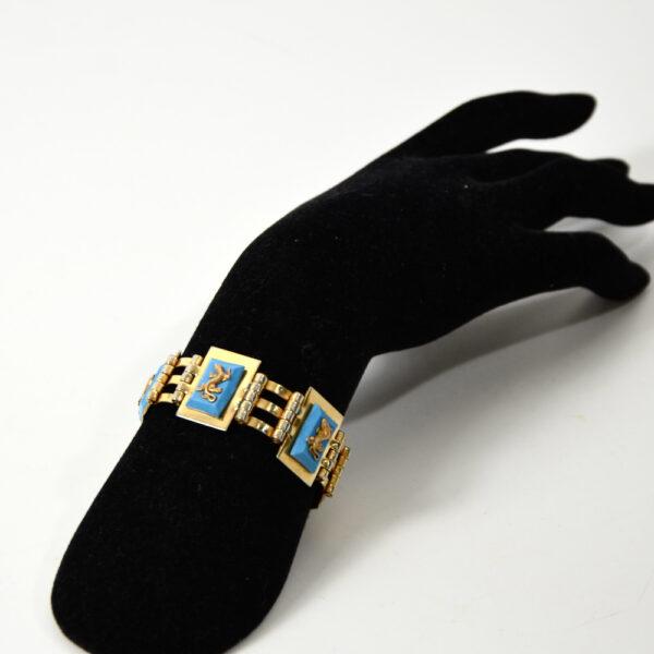jean painleve art deco bracelet 1930 blue salamander