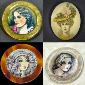 lea Stein serigraphy brooches 1960s 1970s vintage french designer jewellery