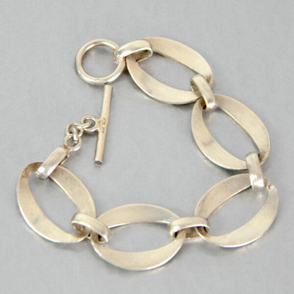 modernist 800 silver enamel bracelet green enamel link bracelet 2