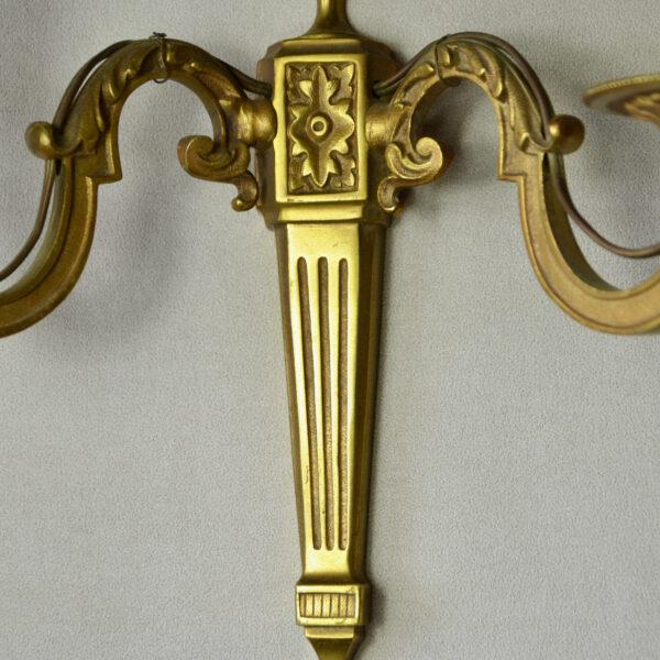 pair of antique french gilt bronze sconces 19thc antique lighting 2