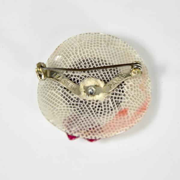 vintage Lea Stein hat brooch 1970s French designer jewellery (1)