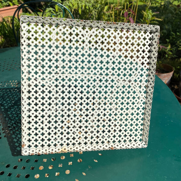 1950s drinks carrier attributed to Mathieu Mategot perforated metal 8 glasses holder (2)