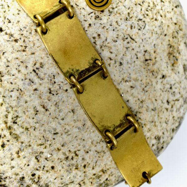 1970s bronze bracelet by M Buffet, France vintage jewellery (1)
