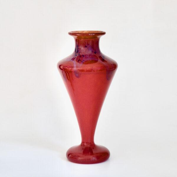 Charles Schneider Red Marbled Art Deco vase 4