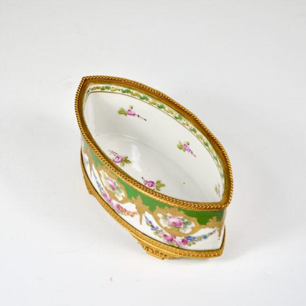 Sèvres jardinière 19thc French porcelain gilt bronze ormolu miniature (1)