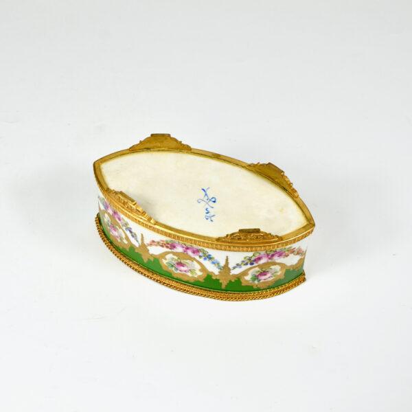 Sèvres jardinière 19thc French porcelain gilt bronze miniature (5)