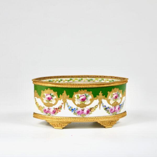 Sèvres jardinière 19thc French porcelain gilt bronze ormolu miniature
