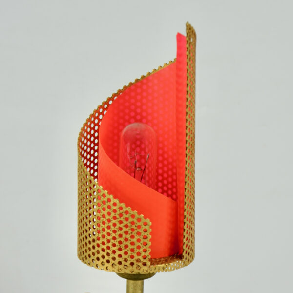 Teleambiance perforated lamp Matthieu Mategot 1960 French mid century light (1)