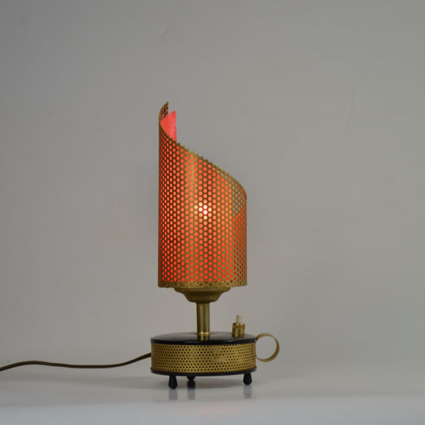 Teleambiance perforated lamp Matthieu Mategot 1960 French mid century light (3)