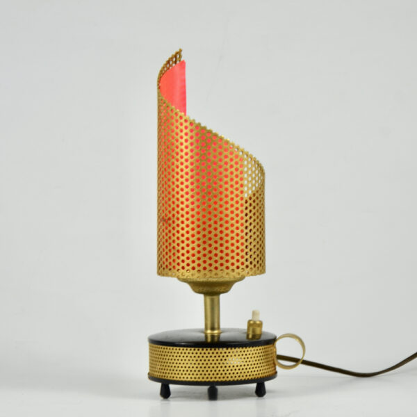 Teleambiance perforated lamp Matthieu Mategot 1960 French mid century light (4)